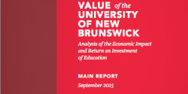 UNB Study Shows $1.2 billion Impact on Provincial Economy