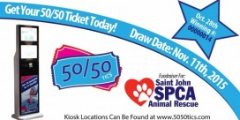 Saint John SPCA Animal Rescue 50/50 Tickets for Sale
