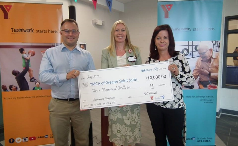 YMCA Greater Saint John received $10,000 from Bell Aliant