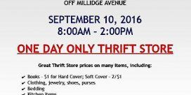 Sea Belles Hold One Day Thrift Store Sale