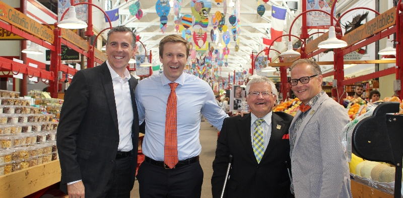 From left: Saint John Mayor Don Darling; Premier Brian Gallant; Service New Brunswick Minister Ed Doherty; and Saint John-Rothesay MP Wayne Long.