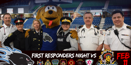2017 First Responders Night – Saint John Sea Dogs VS Shawinigan Cataractes