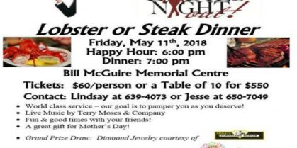Annual Ladies Night Out – Lobster or Steak Dinner, Friday May11th