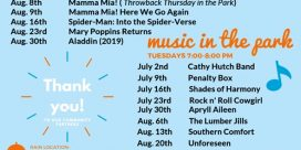 Quispamsis Arts and Culture Park Summer Series of Events of Movies and Music
