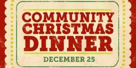 9th Annual Free Community Christmas Dinner at the Golden Jubilee Hall Seniors' Centre, Sussex