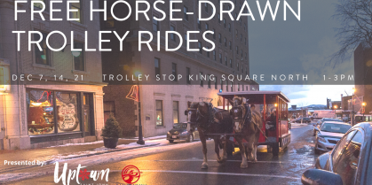 FREE Horse-Drawn Trolley Rides – Dec 7, 14, and 21