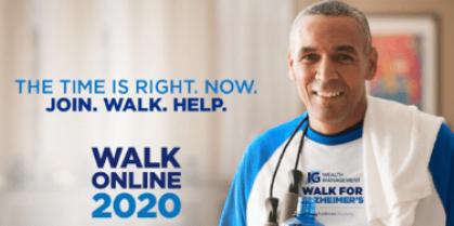 Walk for Alzheimer's – Walk Online 2020