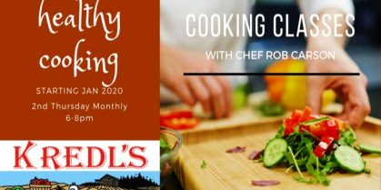 Cooking Classes at Kredl's with Chef Rob Carson