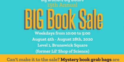 15th Annual BIG Book Sale for Big Brothers, Big Sisters, Boys and Girls Club Saint John