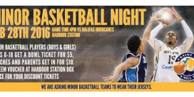 Minor Basketball Night at Mill Rats Home Game Sunday
