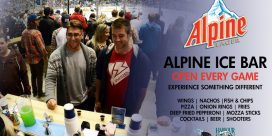 ALPINE ICE BAR TO OPEN FOR ALL REMAINING GAMES THIS SEASON