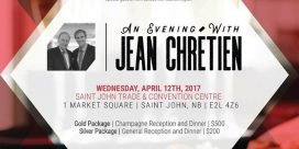 An Evening with Jean Chrétien at the Saint John Trade and Convention Centre