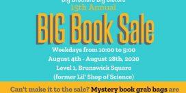 15th Annual BIG Book Sale for Big Brothers, Big Sisters, Boys and Girls Club Saint John